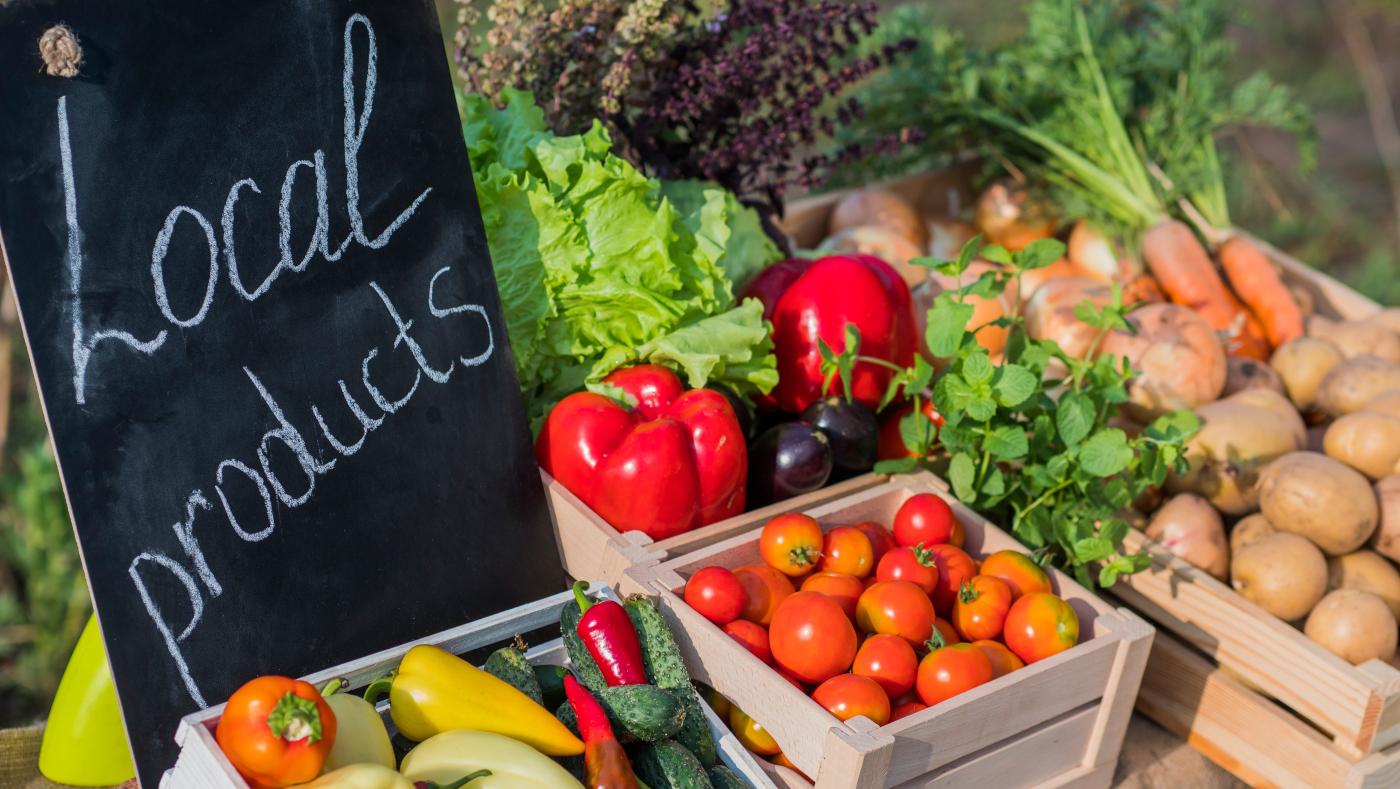frische und llokale Lebensmittel - Gesund und nachhaltig abnehmen